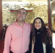 Con Ángela Molina