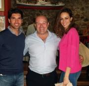 Con Cayetano Rivera y Eva González
